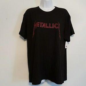 NWT METALLICA XL black short sleeve tee with logo